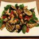 Italiaanse salade met kip en aubergine